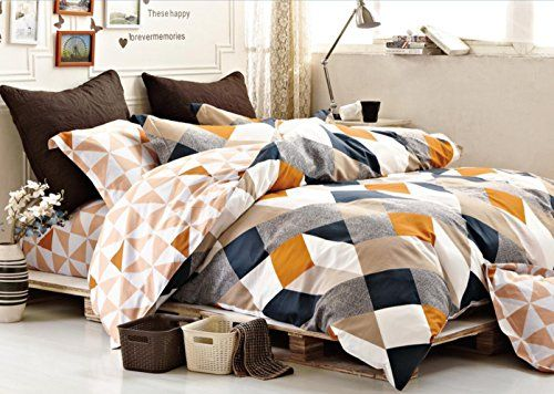 Minimal Style Geometric Shapes Duvet Quilt Cover Modern S...