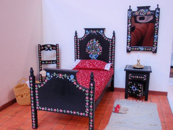 Hey, I found this really awesome Etsy listing at https://www.etsy.com/listing/90194200/dollhouse-miniature-bed-in-12th-scale