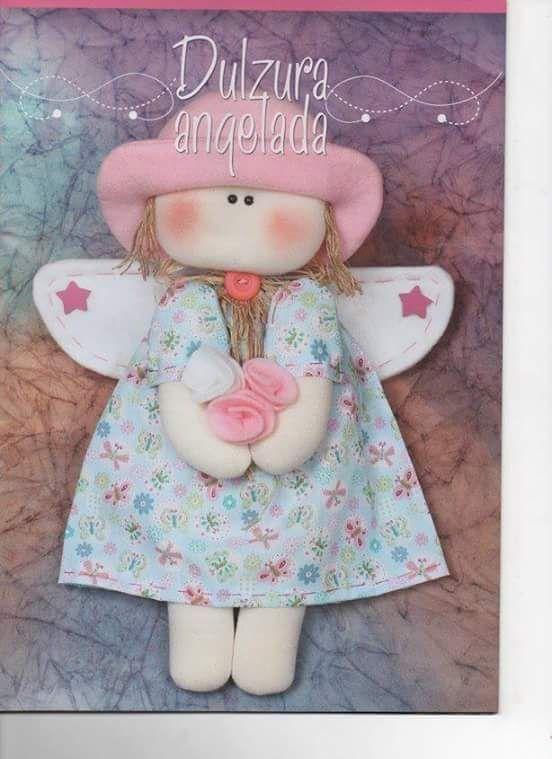Linda boneca com moldes e passo a passo...créditos nas imagens....