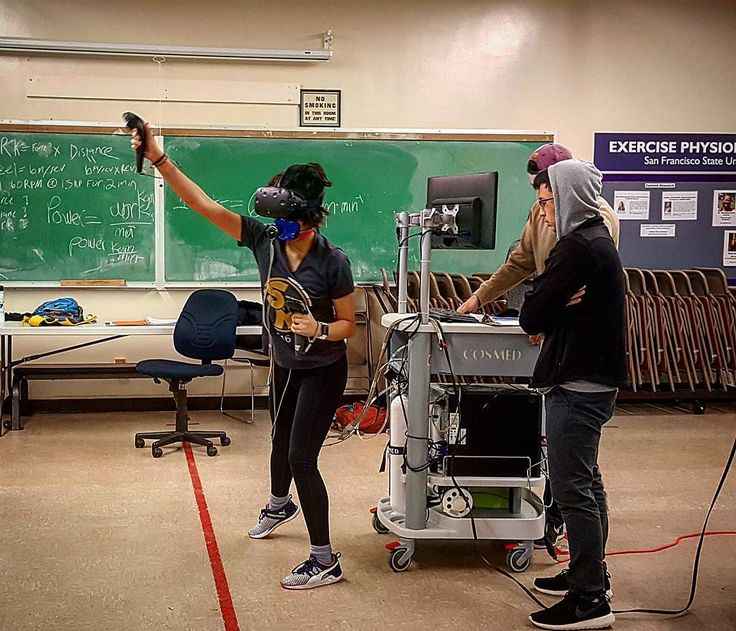 Metabolic testing and virtual reality at Muscle Physiology Lab San Francisco State University
