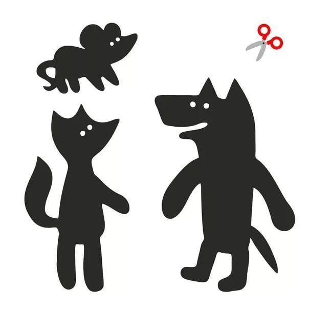 Рисунки животных для театра теней