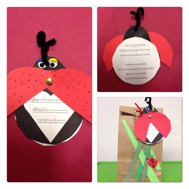 carte et emballage du cadeau de la fête des pères. Classe Maternelle de Mme Julie