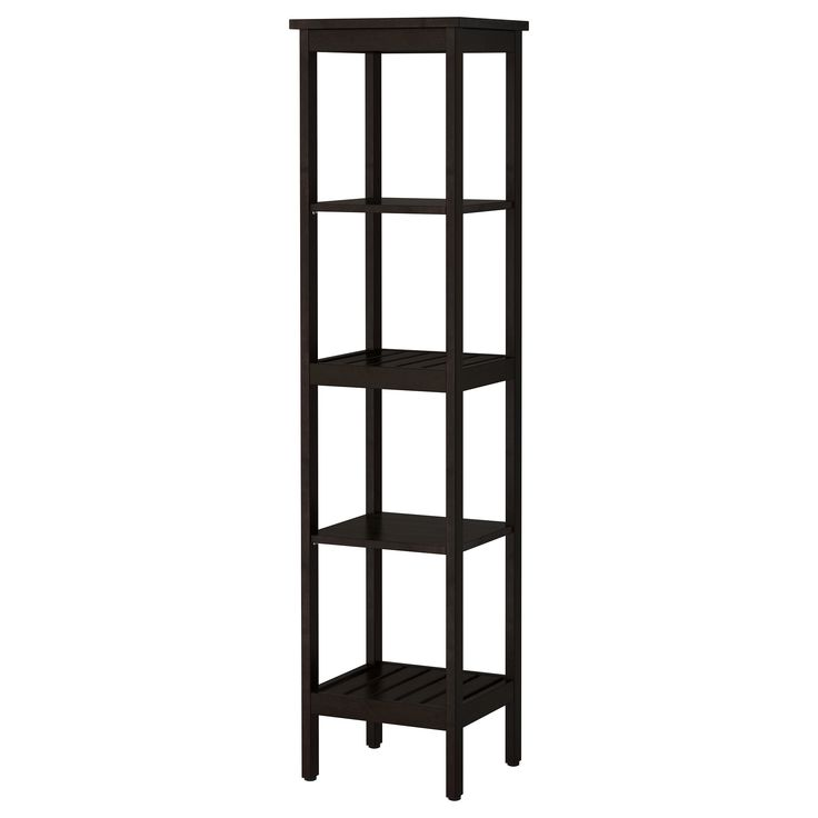 """Use as side tables - HEMNES Shelving unit - black-brown stain - IKEAProduct dimensions, $99 Depth: 14 5/8 """" Height: 67 3/4 """" Width: 16 1/2 """""""