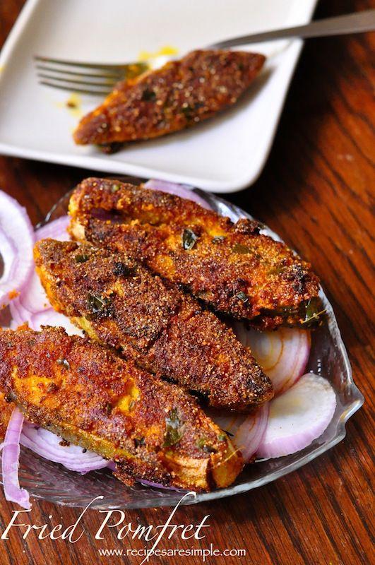 Fried pomfret recipe