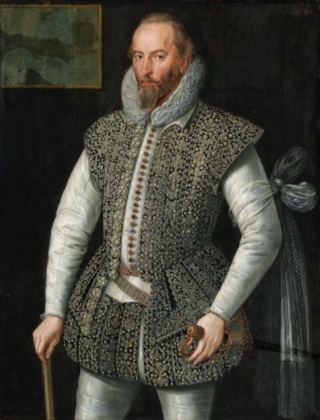 Portrait of Sir Walter Raleigh 1598 attributed to William Segar.