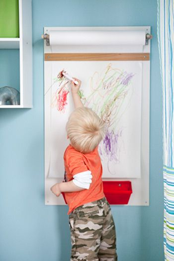 Let your kids' inner artist take center stage with this easy-to-assemble wall-mounted art station.