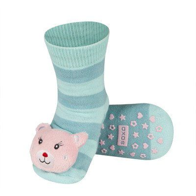 BABY RATTLE SOCKS 'SOXO' LARGE - BEARGIRL WITH ABS    #MamaFashionMe - Aussie Online Store with Beautiful Accessories for Girls + Some for Boys