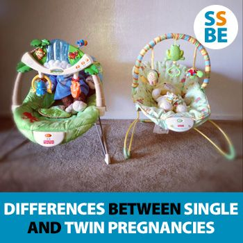 Surprising differences between singleton and twin pregnancies - I actually had a great and easy pregnancy but since I didn't know any different, I couldn't see the vast differences in a single and twin pregnancy.