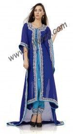 Charming Deep Blue #Salwar #Kameez Style #Kaftan