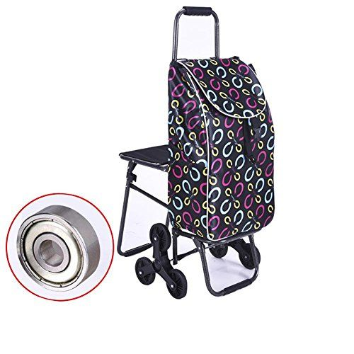 Wei-d Portable With seat Trolley Folding Shopping Trolley Cart 6 Wheel Climb the Stairs Grocery Shopping Little Pull the Car , D #Portable #With #seat #Trolley #Folding #Shopping #Cart #Wheel #Climb #Stairs #Grocery #Little #Pull