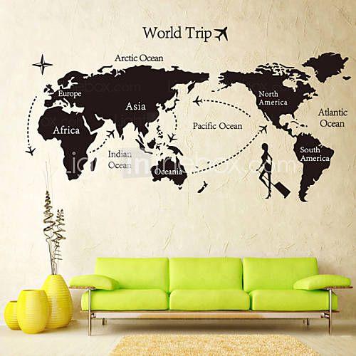 137 best interior world maps images on pinterest worldmap world usd 699 global world map atlas vinyl wall art decal wall sticker gumiabroncs Gallery
