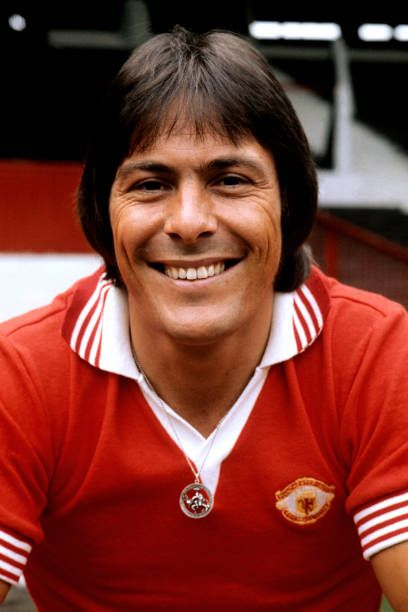 Stuart Pearson, at the Manchester United photocall 1975/76.