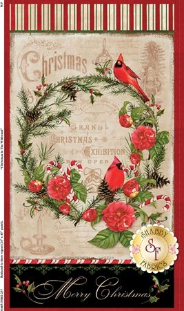 Christmas In The Wildwood 33802-237 Large Panel Multi by Nancy Minks for Wilmington Prints: Christmas In The Wildwood is a beautiful collection by Nancy Mink for Wilmington Prints. 100% Cotton. This panel measures at approximately 24