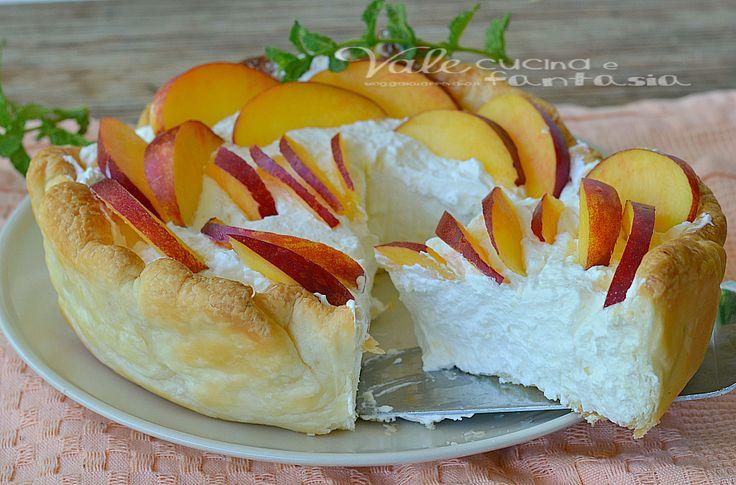 Italian Sfoglia Cake Recipes: Torta Fredda Di Sfoglia Con Pesche E Crema Al Mascarpone