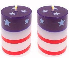 Patriotic Pillar Candles What To Bring To A Fourth Of