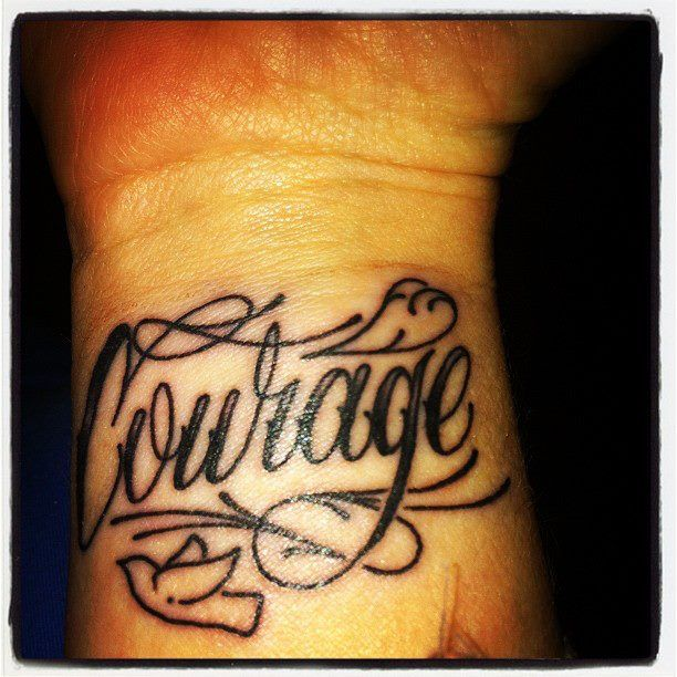 37 Best Courage Anchor Tattoo Images On Pinterest