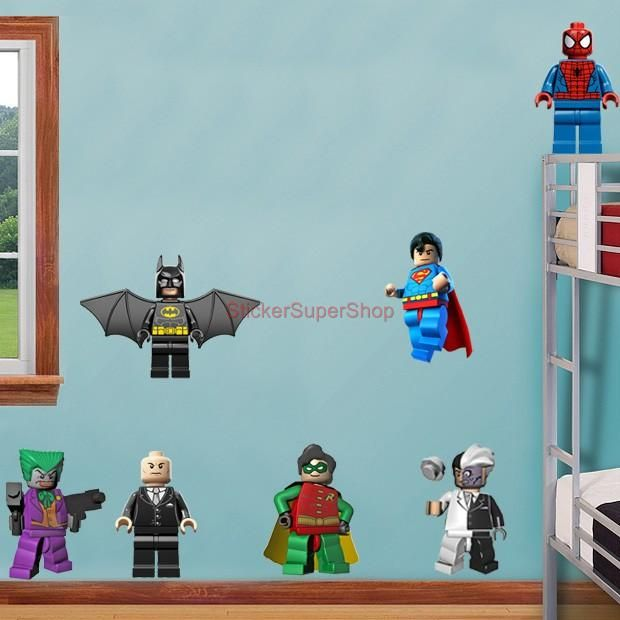 LEGO Room Decals | LEGO-BATMAN-11-CHARACTERS-Decal-Removable-WALL-STICKER-Home-Decor-Art ...