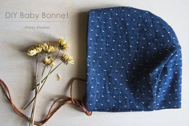 DIY Baby Bonnet with Leather Ties