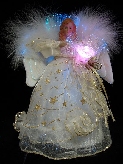 Fiber Optic Christmas Angels | Home Holiday Decorative