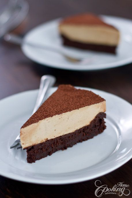 Flourless Chocolate Cake with Coffee Mousse-2