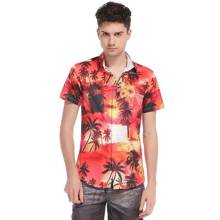 2017 New Summer Mens Shirt Short Sleeve camisa masculina Men Slim fit Shirt Hip Hop Clothing camiseta masculina