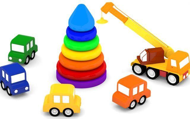 Cartoni animati la piramide degli anelli! Macchinine colorate Piramide degli anelli!Quello più piccolo è leggero, ma come faremo a trasportare quello più pesante? La piramide di anelli è un gioco tipico della prima infanzia, serve a capire le misure, le proporz #cartonianimati #italia #bambini