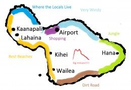How to choose a region on the island of Maui--this is a good intro to the island.