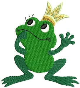 {Frog Princess- cuteembroidery-15836-1068.pes K.H.}  Free Embroidery Designs, Cute Embroidery Designs
