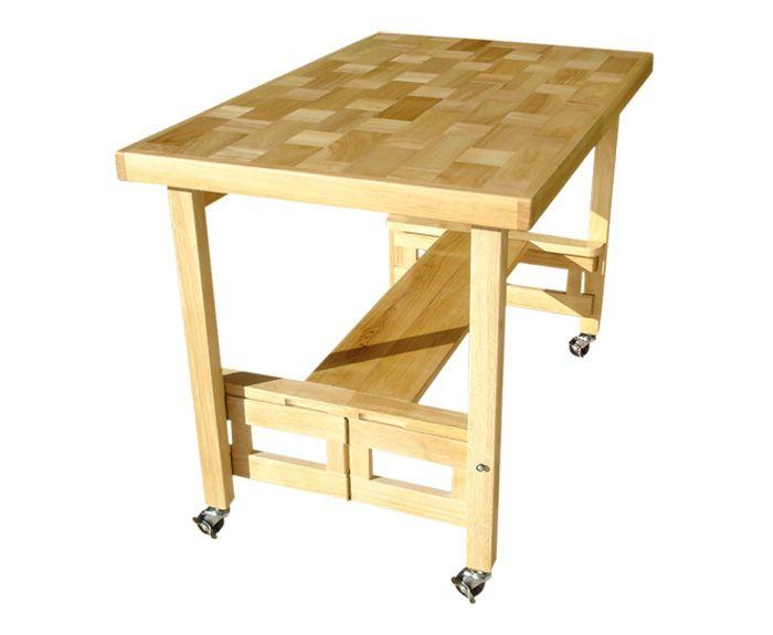 folding kitchen island work table