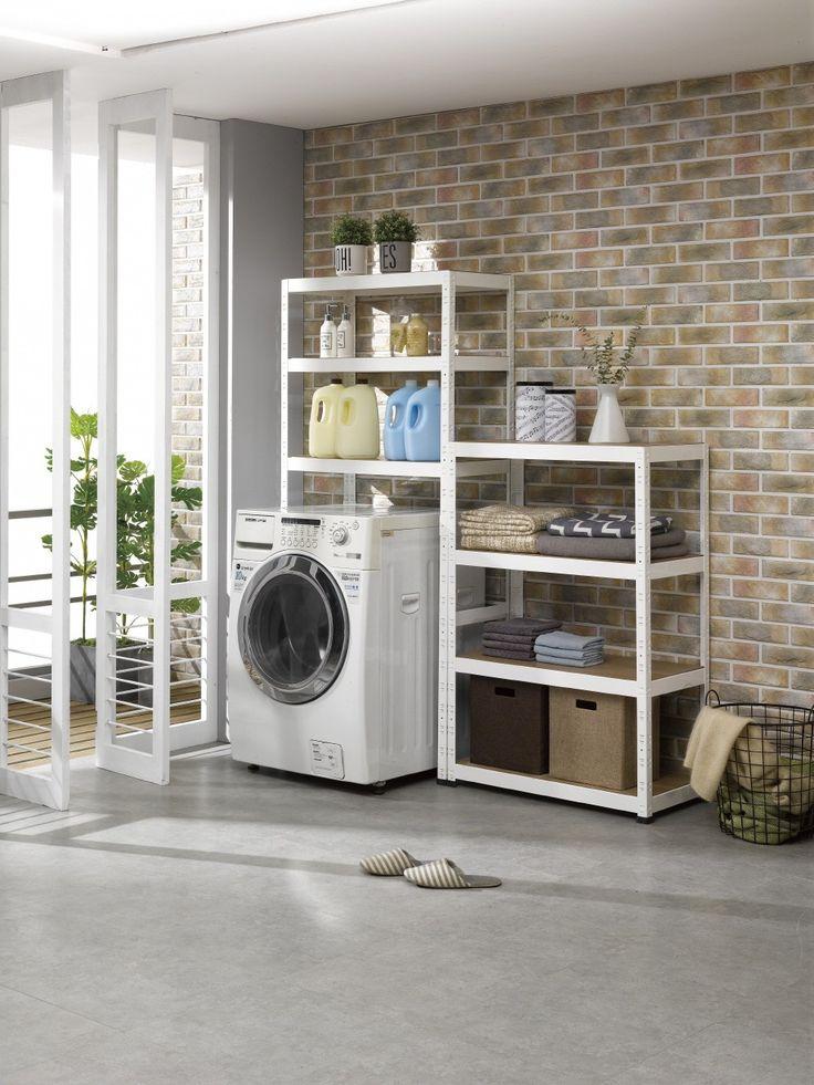 Shurack laundry room 슈랙 , 다용도 선반 , 조립식선반 , 스피드한선반 ,  선반가구 , 수납장 , 수납가구 , 선반 , 세탁실 , Laundry room