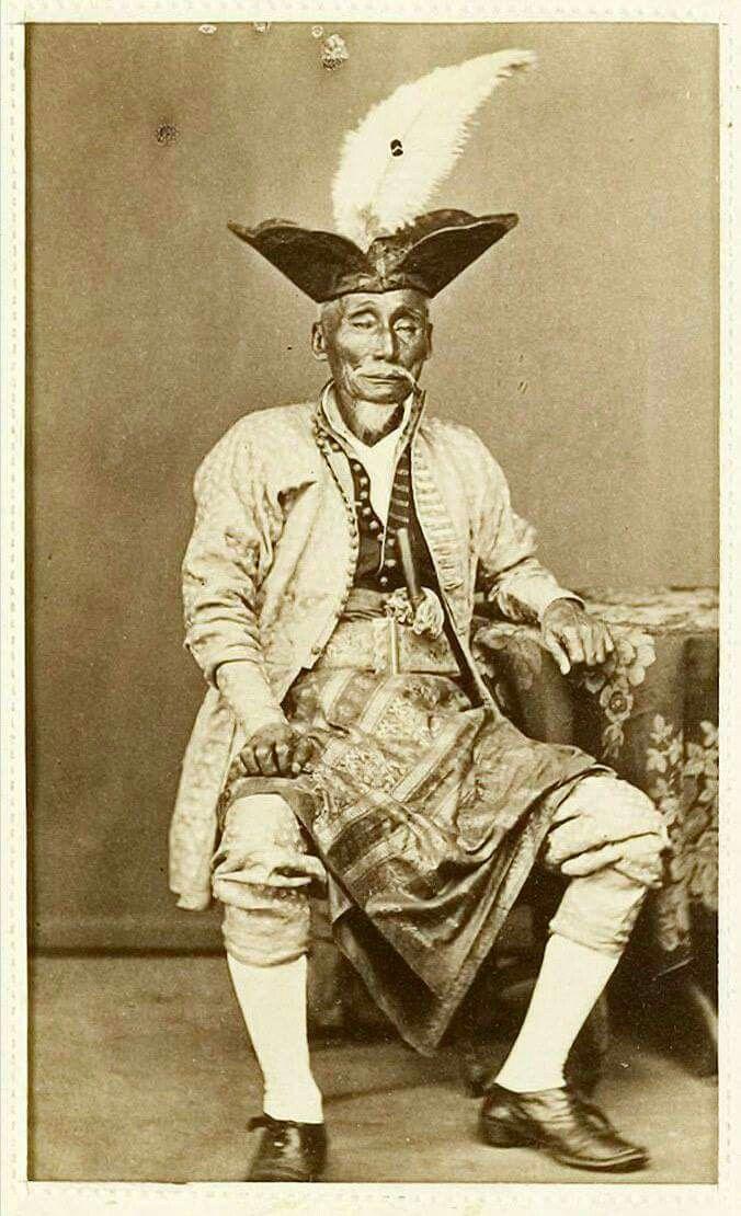 1870. Makassar. A lieutenant.