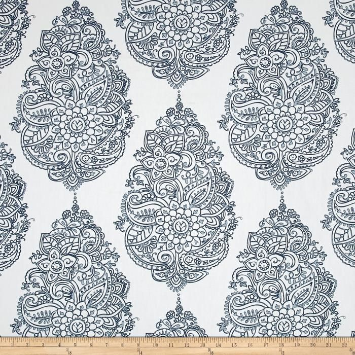 Premier Prints Yorkshire Twill Premier Navy/Weathered Blue - lovely. Large pattern.