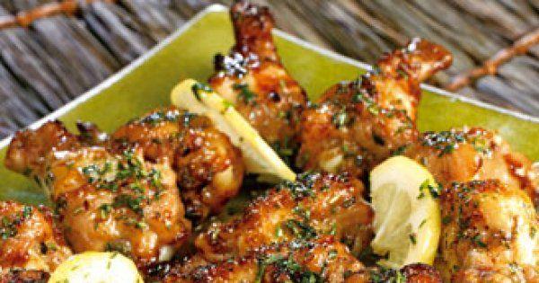 Découvrez cette recette de pilons de poulet grillés aux herbes.