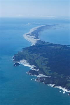 Aerial View of Farewell Spit