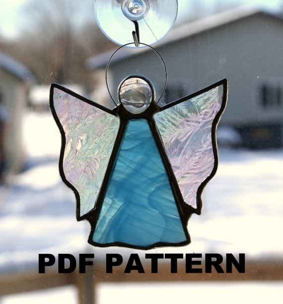 Angel Stained Glass PATTERN PDF By FiltzGlassStudio On Etsy 300
