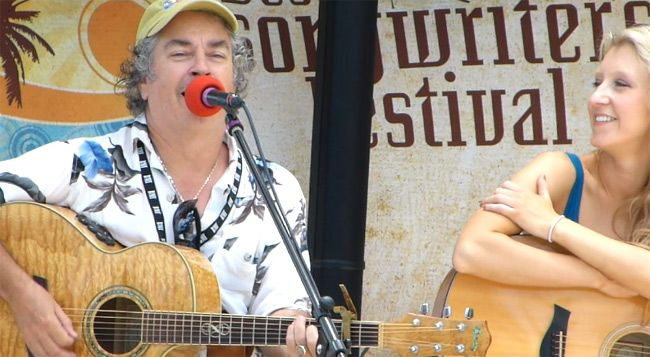 """Key West Chris at the 2012 Key West Songwriters Festival. Click the image to see him perform """"Little Island Town"""". Cheers!"""