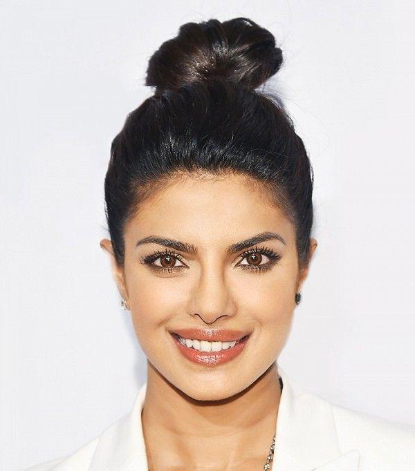Loving Priyanka Chopra's topknot and glowing skin