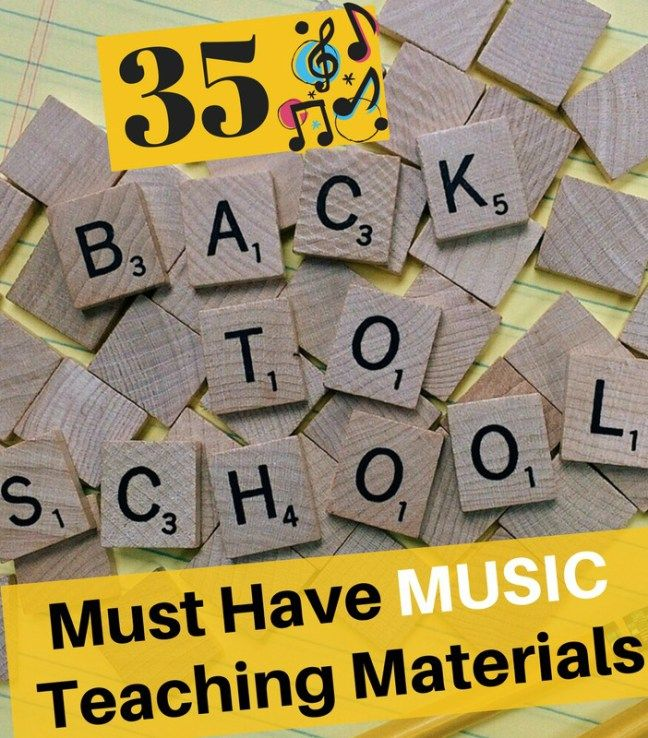 Music teachers must have music teaching materials for back to school.