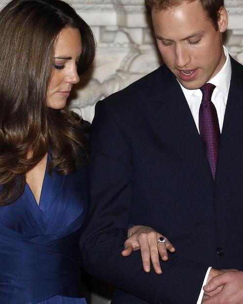 Engagement Ring Kate Middleton, Prince William #engagement
