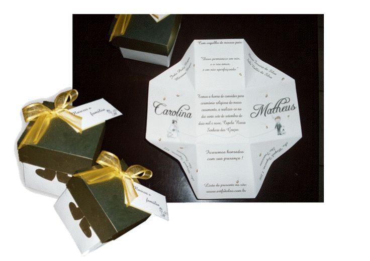 convite em formato de caixa