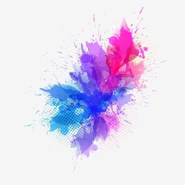 Pink Blue Color Splash Paint Color Celebration Png And Vector