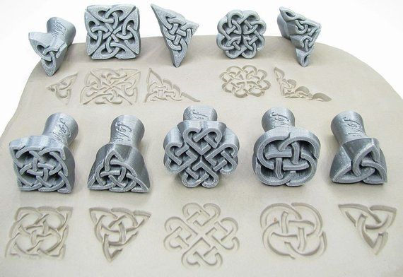 Celtic Cross Ceramic Mold Polymer Clay Ceramic or Porcelain Slip NEW DESIGN