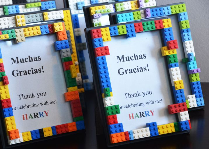 """DIY Lego frames: """"I found some sturdy frames for under $2.50. I used Elmer's GLUE-ALL to secure the bricks to the frames. Allow glue to set for a good 12 hours."""""""