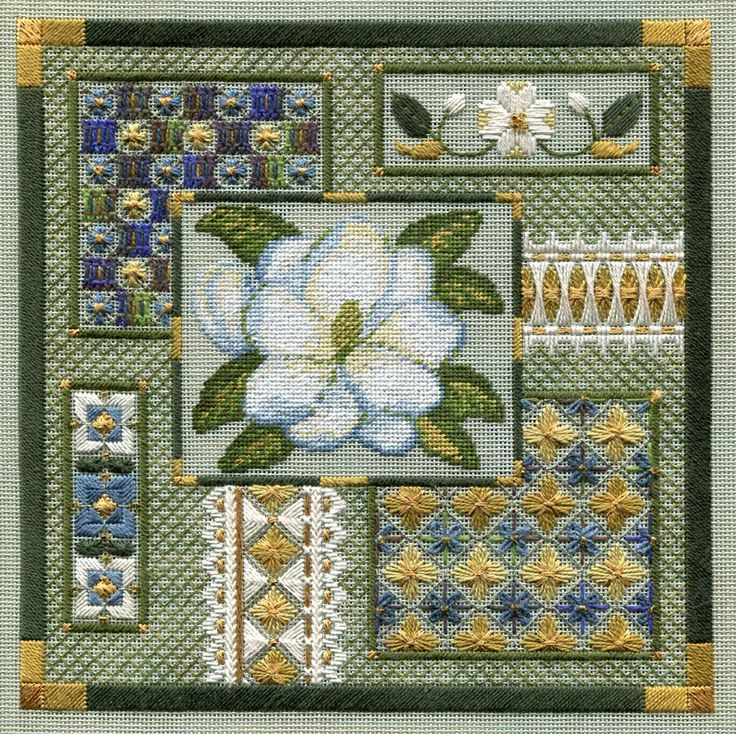 Secret Garden Collection $16 pattern Laura Perin counted needlepoint design