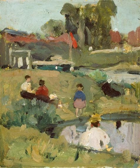 "James Wilson Morrice, Study for ""At a Country Fair"""