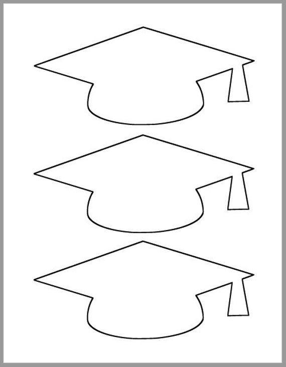 Graduation Cap Template-Printable Template-Grad Party Decor-Graduation Advice Ca…