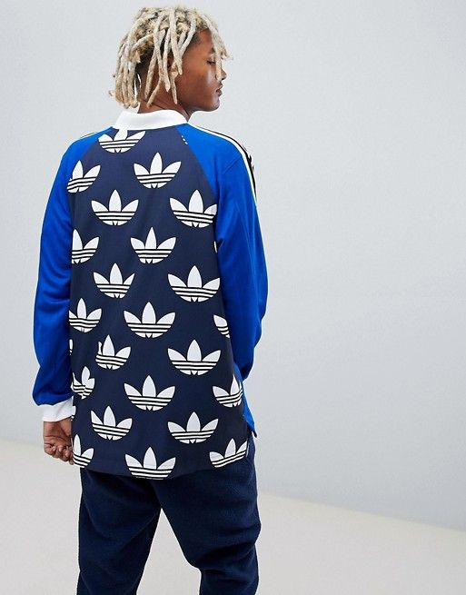 Hizo un contrato Casarse solicitud  adidas Originals B-Side Long Sleeve Jersey With Back Print In Blue DH5057 |  Long sleeve jersey, Adidas originals, Long sleeve