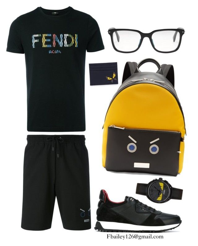 """Untitled #915"" by fbailey126 ❤ liked on Polyvore featuring Fendi, men's fashion and menswear"
