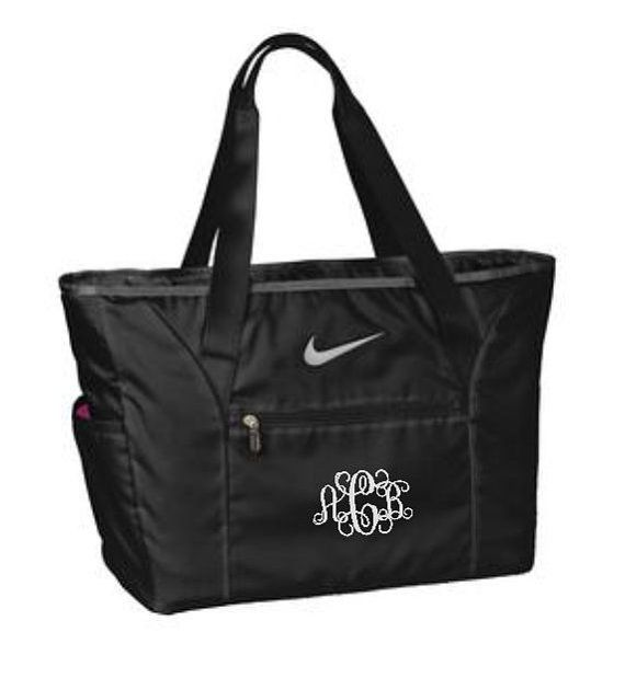 Bridesmaid Tote Bags, Nike Tote Bags, Set of Six, Bridesmaids Gift, Monogram Bags, Large Travel Bag, Custom Personalized Gifts, Cre8ivGifts