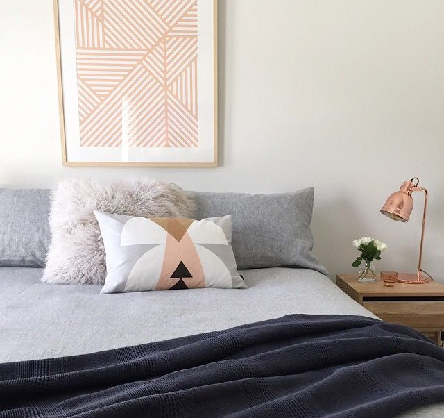 i like the neutral colour with the pop of pink. guest bedroom?